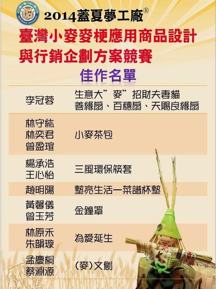 [超有梗] 台灣小麥麥梗應用商品設計與行銷企劃方案競賽得獎名單! - 3