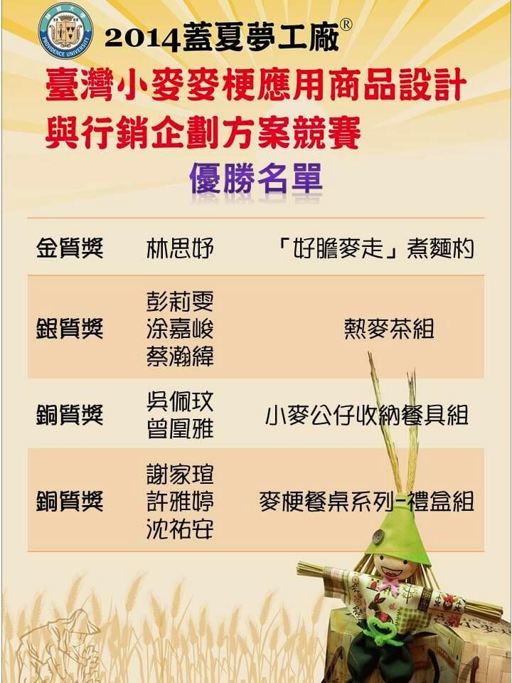 [超有梗] 台灣小麥麥梗應用商品設計與行銷企劃方案競賽得獎名單! - 2