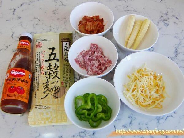 三風麵館-茄汁肉燥焗烤五穀麵2